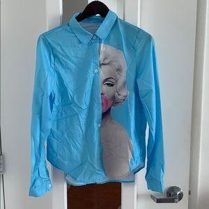 Fashion shirt Marilyn Monroe print